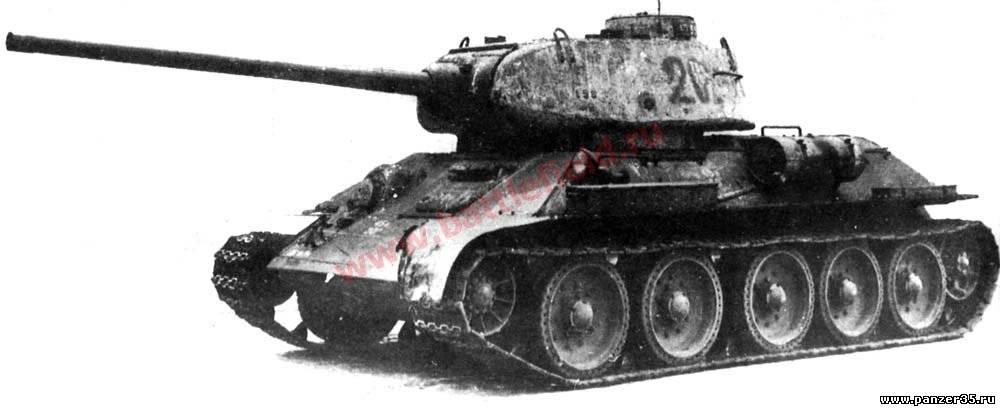 85-мм танковые орудия появились в СССР и проходили испытания в танках.